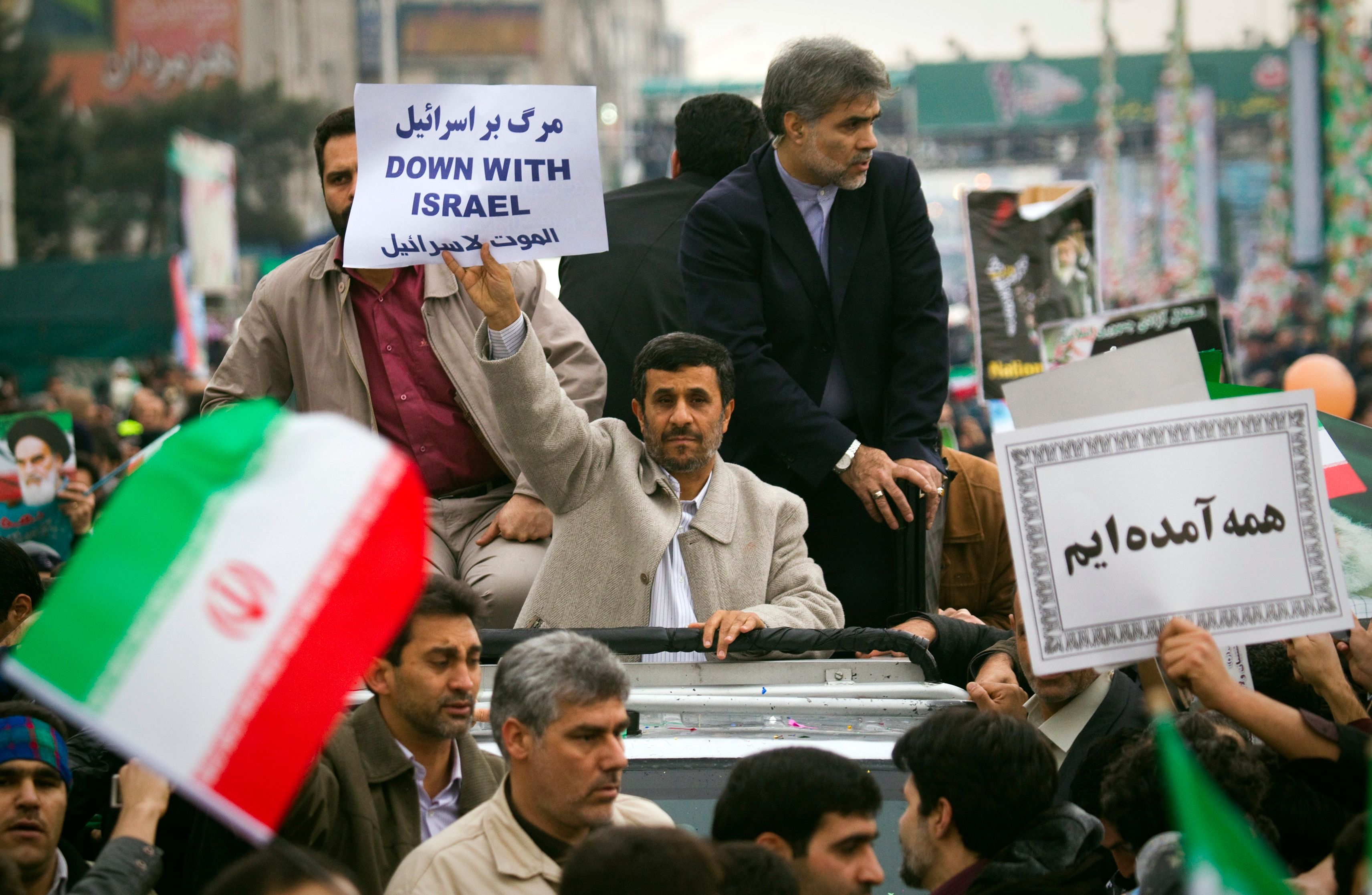 Mahmoud Ahmadinejad se rendait à une cérémonie d'inauguration d'un tunnel routier.