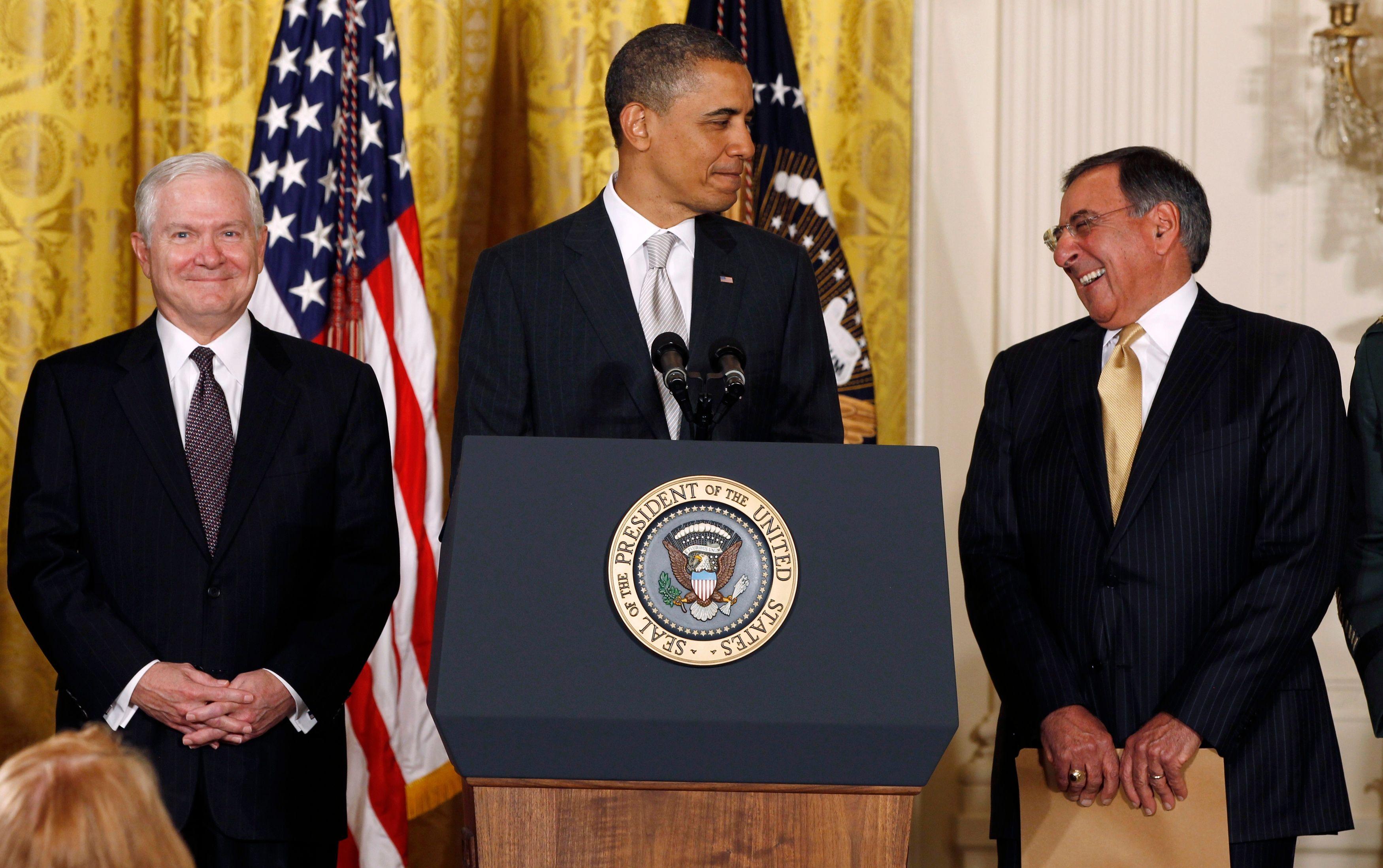 Barack Obama et Leon Panetta nommé nouveau Secrétaire d'État à la Défense...