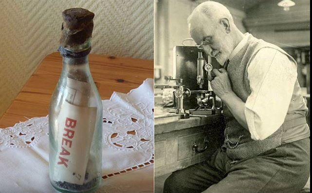 Marianne Winkerl s'est empressée de renvoyer la bouteille et la Marine Biological Association (toujours basée à Plymouth) a pris soin d'offrir un shilling à la touriste allemande