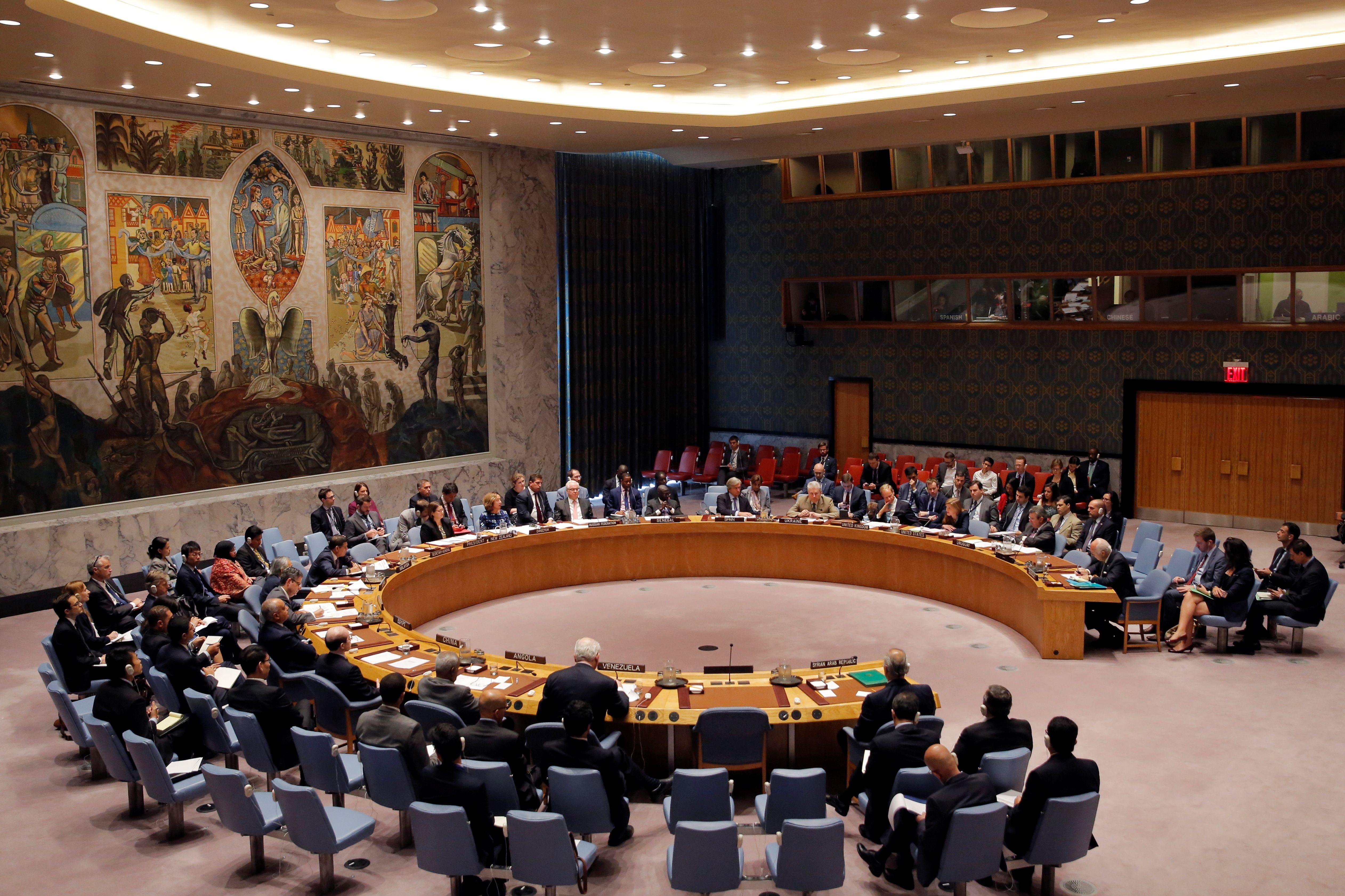 Le Conseil de sécurité des Nations unies, le 25 septembre 2016.