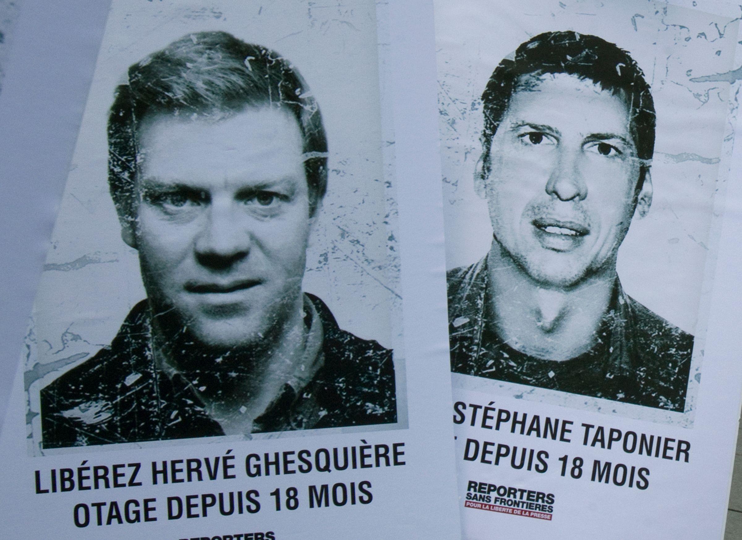 Hervé Ghesquière et Stéphane Taponier, détenus en Afghanistan depuis 547 jours viennent d'être libérés.