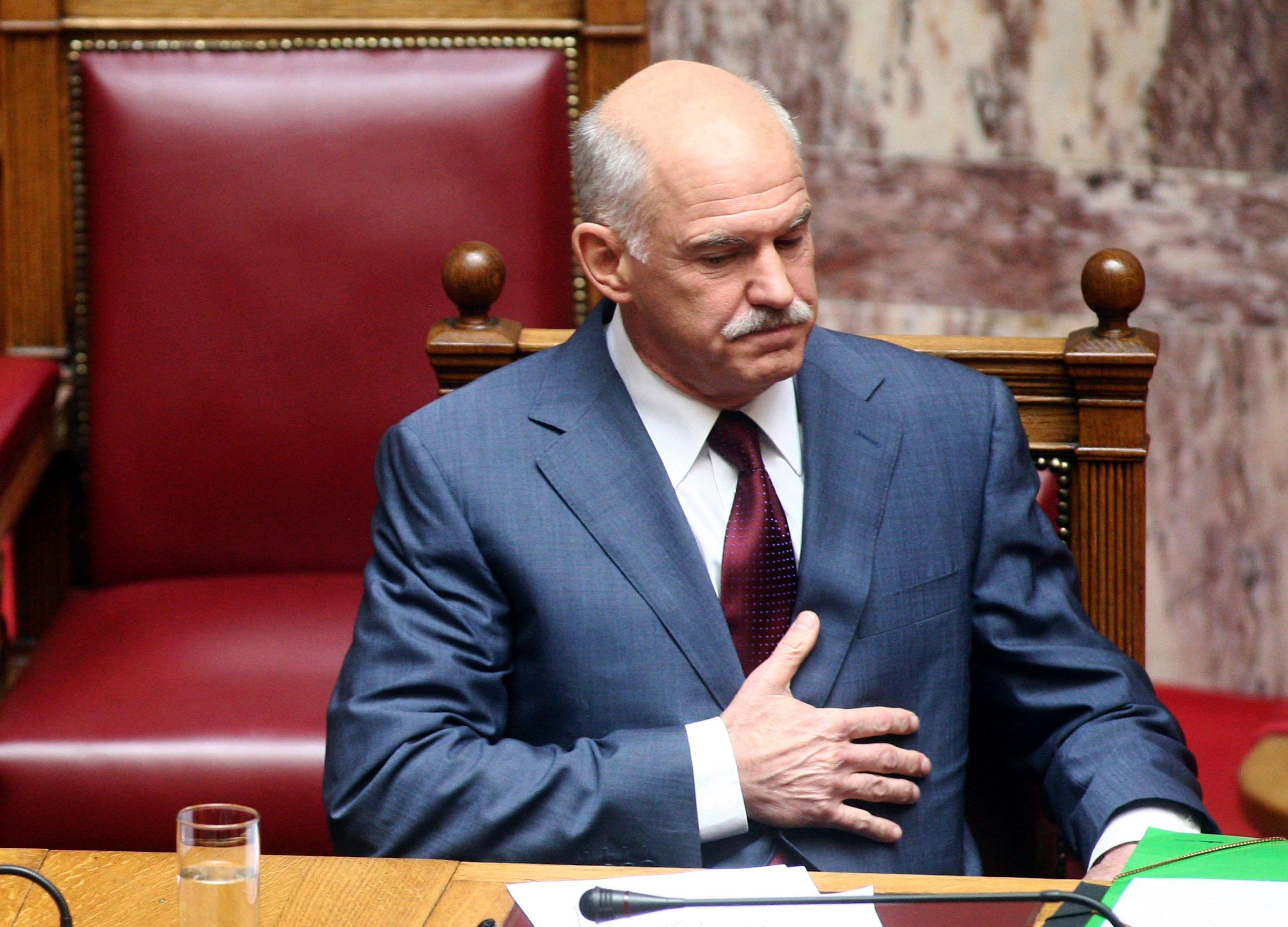 Le Premier ministre grec George Papandréou