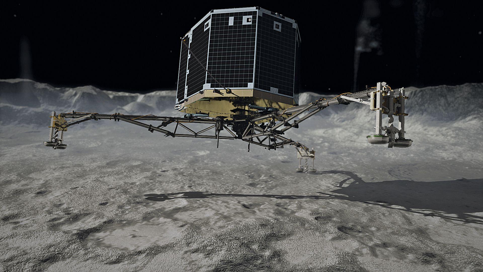 Philae, le robot largué par la sonde Rosetta, est endormi.