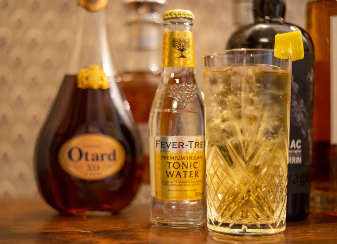 Cognac tonic recette alcool ingrédients été boisson trendy bar gin tonic