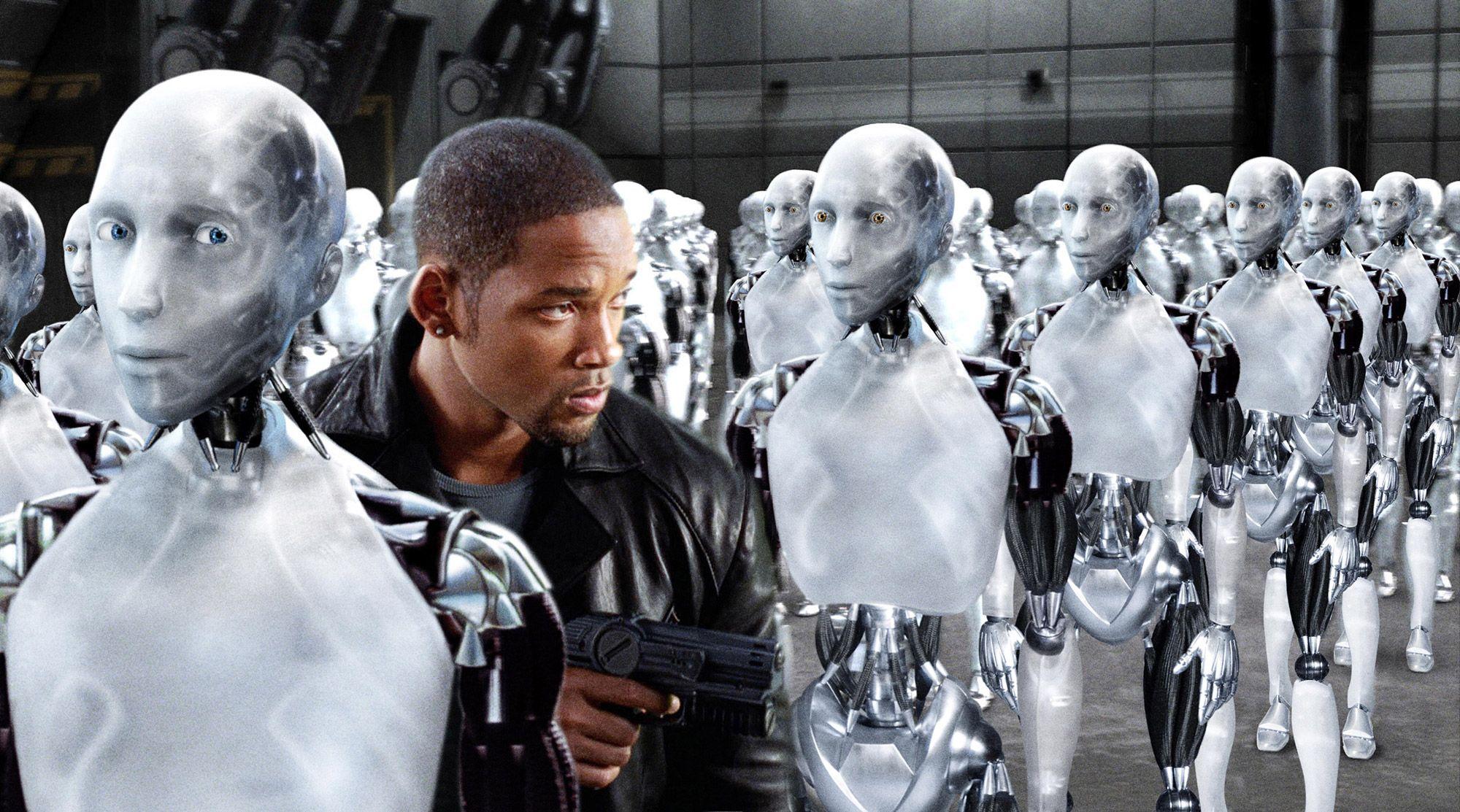 Capture d'écran du film I, Robot.