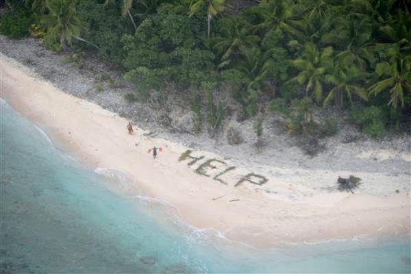 Trois naufragés, sauvés par leur message écrit sur le sable