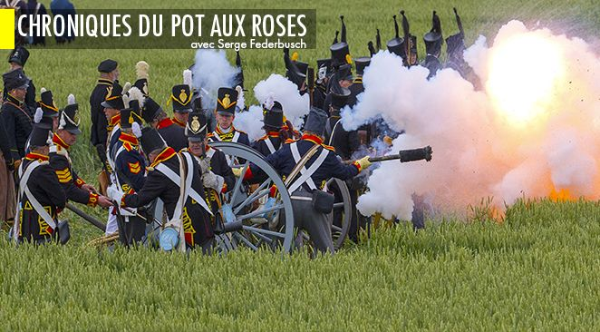 Reconstitution de la défaite française de Waterloo.