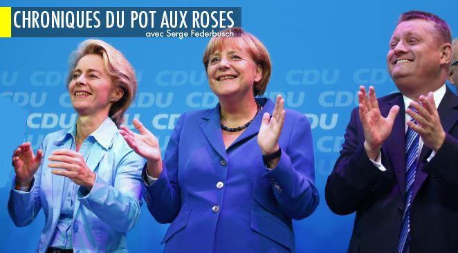 Merkel s'est vue décerner à la une du Monde le titre de « chef de l'Europe ».