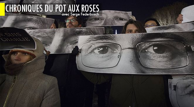 Manifestation après l'attentat perpétré contre Charlie Hebdo.