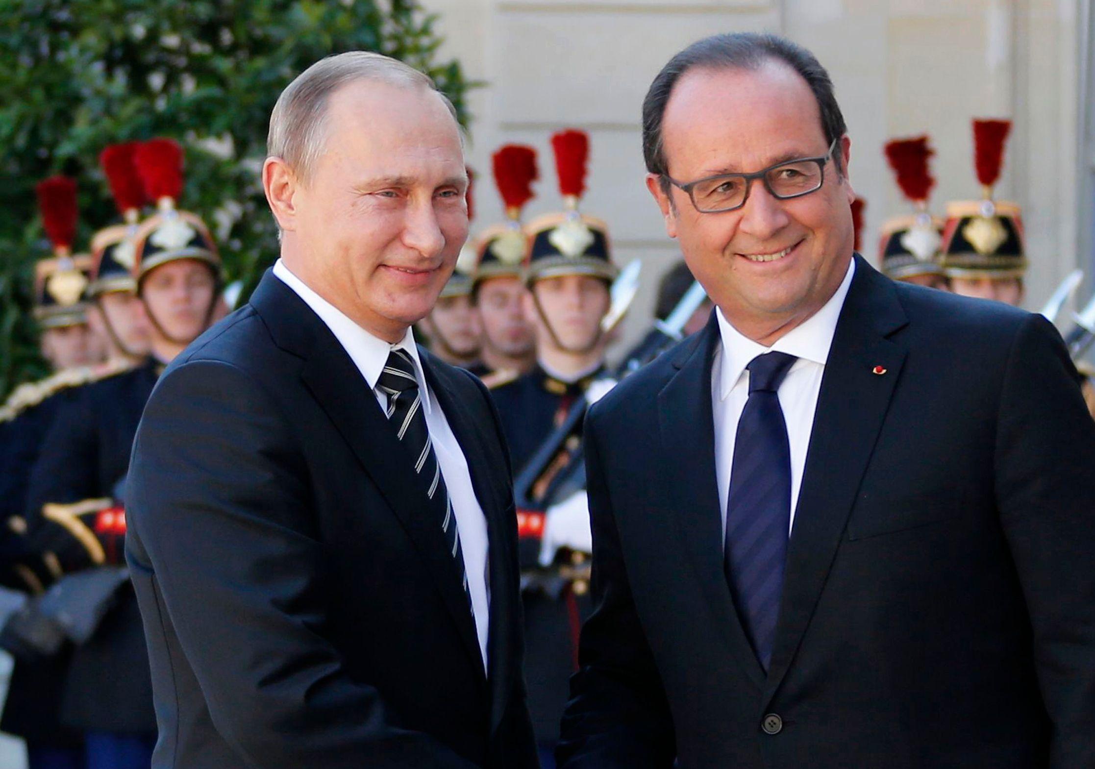 François Hollande recevra Vladimir Poutine le 19 octobre