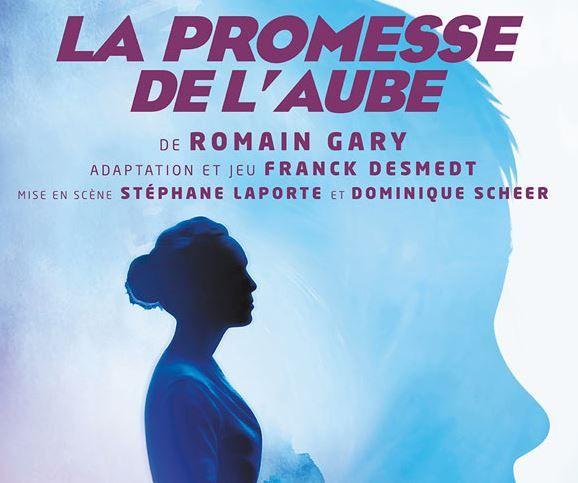 """La pièce de théâtre """"La promesse de l'aube"""" de Romain Gary (une adaptation de Franck Desmedt) est à découvrir au Théâtre du Lucernaire à Paris."""