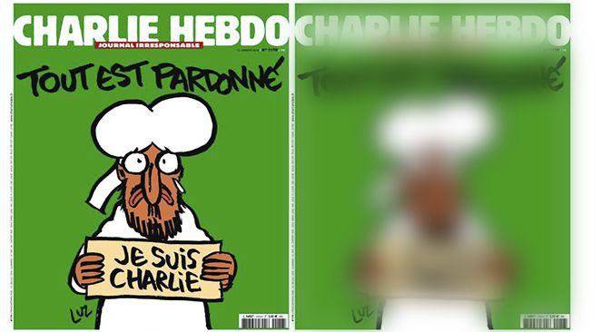 La nouvelle Une de Charlie Hebdo représente le prophète Mahomet.