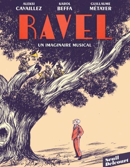 """""""Ravel, un imaginaire musical"""" de Karol Beffa, Guillaume Métayer et Aleksi Cavaillez : roman graphique"""