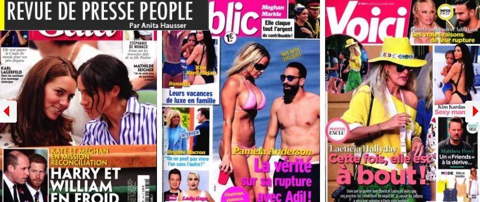 Lady Gaga in love mais pas de Bradley Cooper; Laeticia Hallyday ne trouve plus média à son(ses) pied(s); Qui de Kate & Meghan ou de William & Harry se déteste le plus?; La fille de Stéphanie de Monaco habille les hommes en robe et les femmes en cow boys
