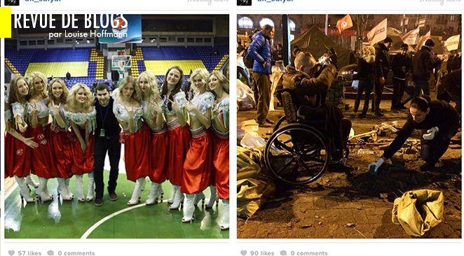 """Image issue du document """"La vie à Kiev, avant et après"""" de James Joiner sur un blog du magazine Esquire."""