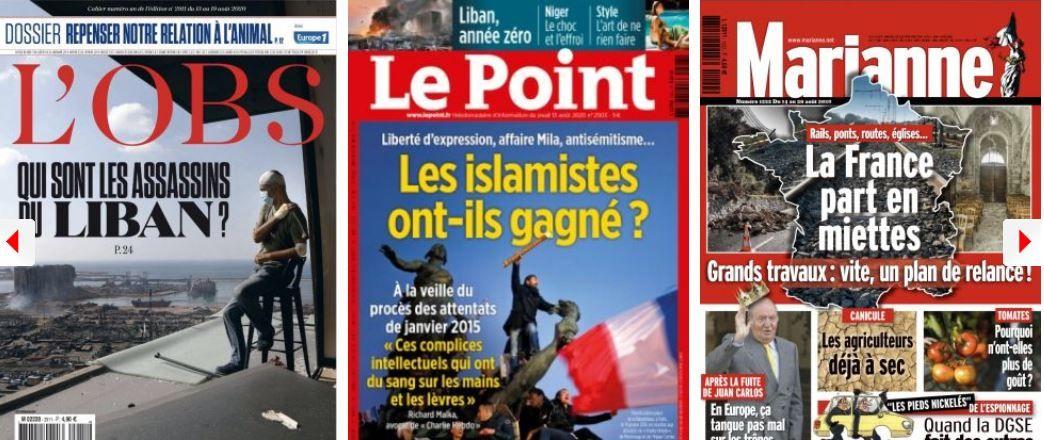Liban islamisme France Charlie Hebdo Raphaël Enthoven élus Modem LREM France crise coronavirus covid-19