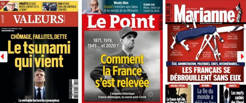 Macron, le président qui décidait seul de tout; Le Maire 1 / Darmanin 0; CGT, la stratégie du chaos ; LREM : la fronde Canada Dry ?; Les fonds souverains des pétro-monarchies à l'affût des entreprises occidentales affaiblies
