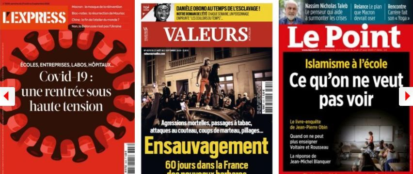 revue de presse 27 aout coronavirus islamisme