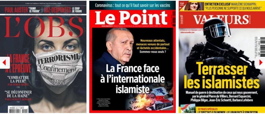 terrorisme coronavirus covid-19 Donald Trump Emmanuel Macron confinement reconfinement Français contraintes citoyens Turquie Erodgan
