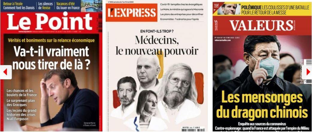 Le Point résout l'énigme du bronzage de Macron, L'Express potasse sur celle du silence de Baroin; Tests : la France 30e sur 35 pays de l'OCDE; Ces 10 milliards gaspillés chaque année en médicaments inutiles; Europe, solidarité : quelques grammes d'espoir