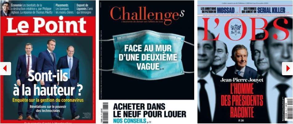 Coronavirus : les ratés de la France; Jean-Pierre Jouyet flingue son ex-ami Macron; Blanquer contre Pécresse; Mélenchon contre Charlie Hebdo; Policiers et services secrets contre la 5G
