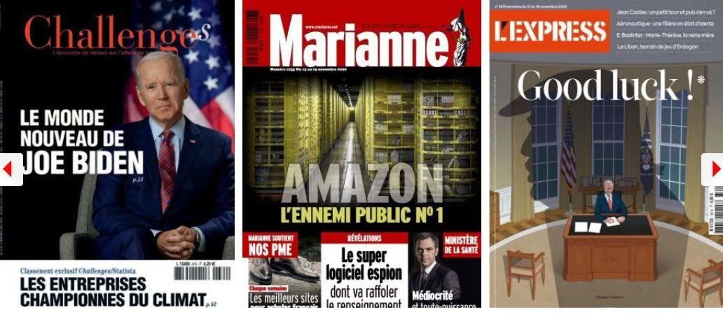 Joe Biden Etats-Unis Donald Trump Amazon La Poste commerce Emmanuel Macron Jean Castex Marine Le Pen Rachida Dati Jean Messiha