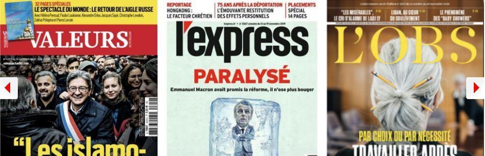 L'Express voit Macron paralysé; Rachida Dati fait face à ses ennemis; Ségolène Royal veut faire taire les siens, et le PS qu'elle arrête de détourner son temps de parole; Retraite: plus les Français sont âgés, plus ils la souhaitent tardive