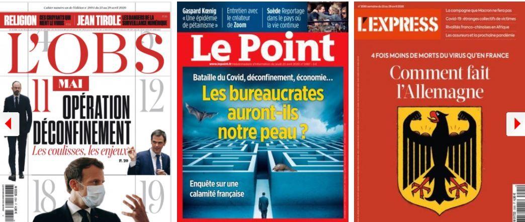 Une partie de la macronie ne croit plus à l'avenir de Macron; Épidémie de plaintes contre le gouvernement; Attention aux associations de victimes du Coronavirus; La PJ s'ennuie ; Pénurie après les masques, les médicaments