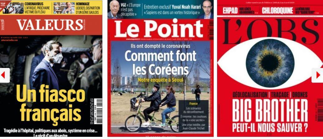 La droite réfléchit à sa stratégie de rebond, Valeurs Actuelles l'enfonce (en même temps que les autres); Marine Le Pen surfe sur la colère des réseaux sociaux, le gouvernement balance sur elle;  Tracer sans fliquer ?; Tensions sur l'approvisionnement