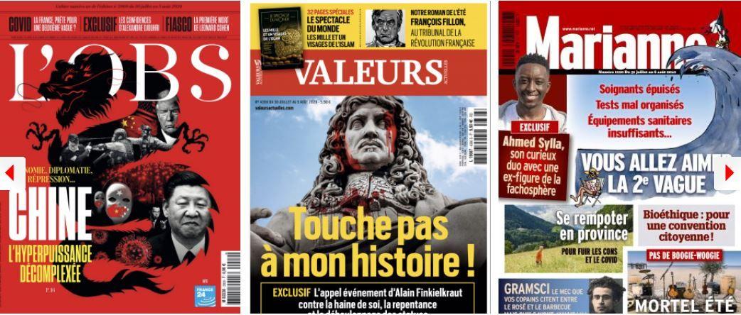 revue de presse des hebdos 30 juillet jean castex chine histoire coronavirus covid-19 gouvernement Emmanuel Macron Nicolas Sarkozy