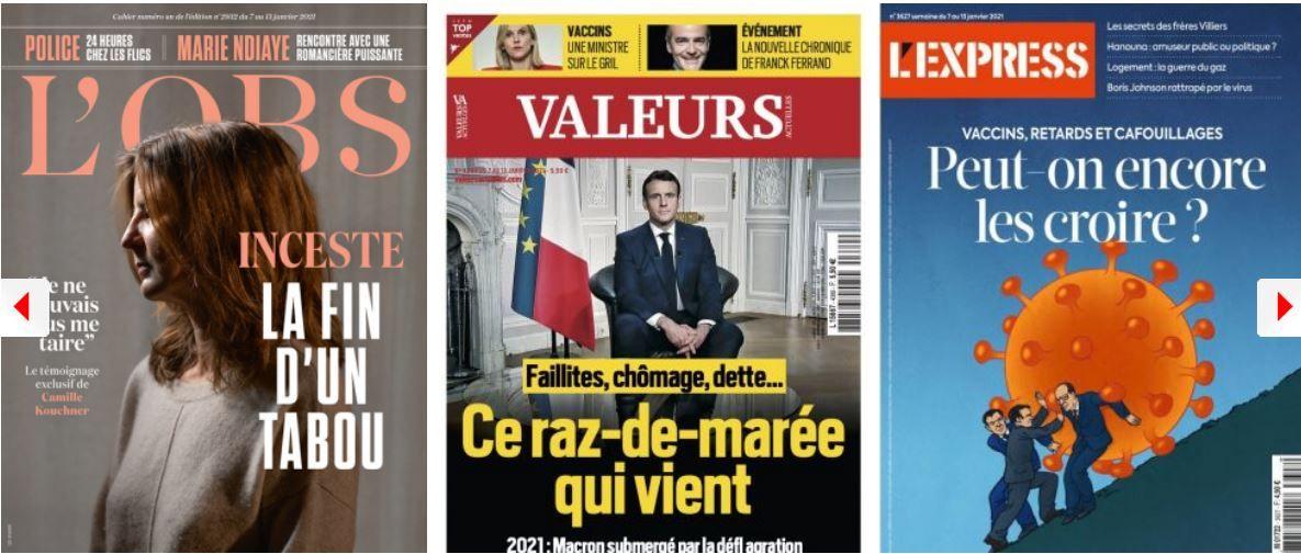 La majorité ne comprend pas le vocabulaire d'Emmanuel Macron, Bruno Le Maire voit dans ses yeux des lacs accablés de soleil; Laurent Wauquiez inquiète plus que Marine Le Pen à l'Elysée; L'Express s'alarme de la dérive politique de Cyril Hanouna