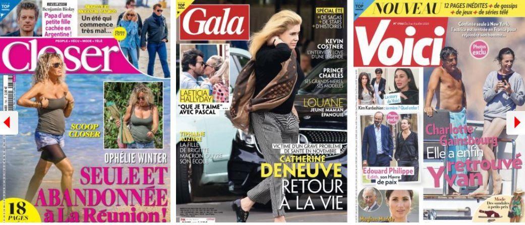 revue de presse people voici closer public gala brigitte macron ophélie winter benjamin biolay charlotte gainsbourg