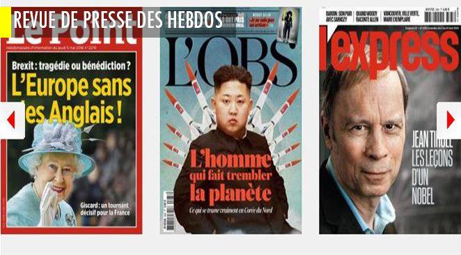 """Macron """"en marche"""" avec """"son armée secrète"""" ; Sarkozy """"en tête de gondole"""" avec ses fans ; mais aussi le pire (Kim Jong-un, l'homme le plus dangereux de la planète) et le meilleur (pour le bonheur au travail)"""