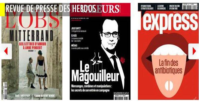 Anne Pingeot : les 1200 lettres d'amour de François Mitterrand ; Bruno Le Maire : même pas peur de François Baroin ; Valeurs actuelles se paye François Hollande et Julie Gayet