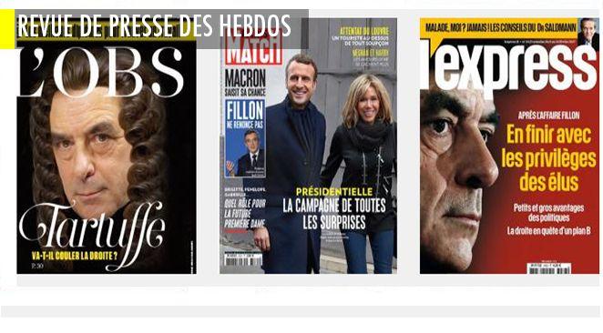 """Emmanuel Macron se prend pour Jeanne d'Arc : c'est sa femme qui le dit ; droite : Fillon, le """"Tartuffe"""" au """"Bal des Faux culs"""" ; le patron de Renault ne connait pas le Brexit"""