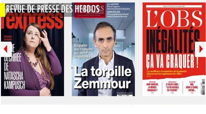 Anne Hidalgo se voit présidente en 2022, Valérie Pécresse aussi ; Eric Zemmour intimide la droite et l'extrême-droite ; présidentielle : boules puantes en série...