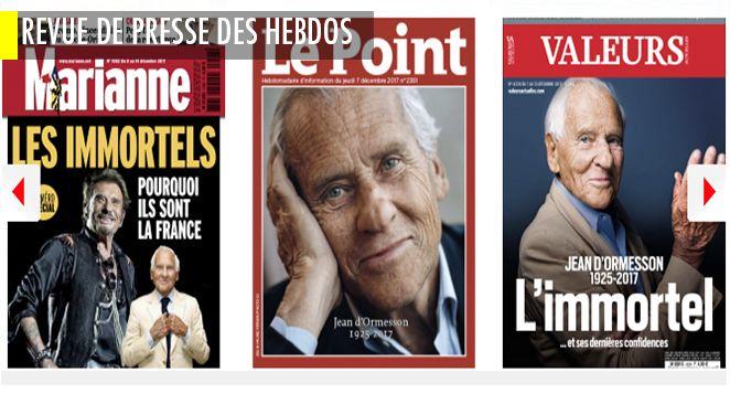 """Accoyer tire sur Les Républicains avant de partir, Copé & Chatel les achèvent, Bertrand dit qu'il aurait battu Wauquiez ; Macron : problèmes de déco; """"Hidalgo cramée, Griveaux gamin"""" Royal veut Paris ; d'Ormesson, la droite qui plait à tout le monde"""