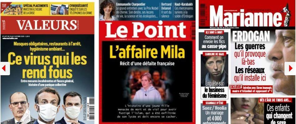 L'entourage de Macron craint que LREM fasse fuir les électeurs de droite; Darmanin, l'homme qui s'accommode de tous les râteliers, Delanoë celui qui n'aime plus son héritière; Mila, l'ado qu'on abandonne à la persécution des islamistes