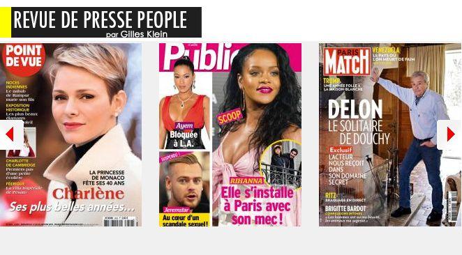 Celine Dion fait un burn-out; Charlène de Monaco frôle l'overdose de bonheur pour ses 40 ans; Sébastien et Maxim, les 2 hommes qui veillent sur Laetitia Hallyday à L.A. Eric celui qui terrorise Fauve Hautot; Rihanna : 400m2 à Paris avec son milliardaire