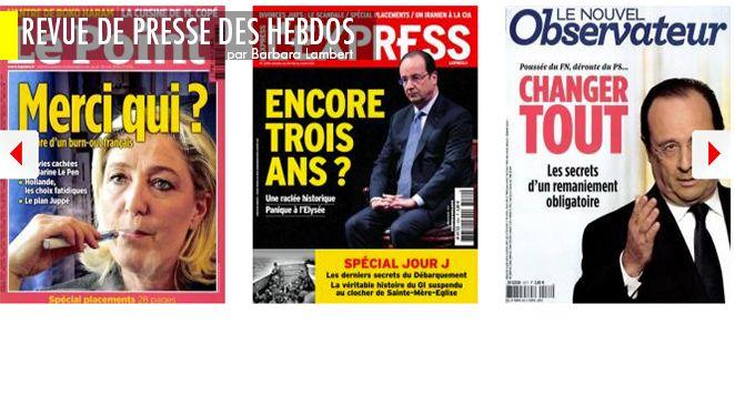 Marine Le Pen: prochaine étape, démissionner du FN?, Bygmalion: Sarkozy dans la ligne de mire, Finkielkraut: sa (drôle de) réaction aux élections