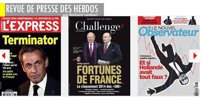 """Nicolas Sarkozy : révélations sur la stratégie de """"l'humilié"""", Valls/Montebourg : vont-ils réussir à tuer Hollande ?, Dissolution : l'arme fatale du président ?"""