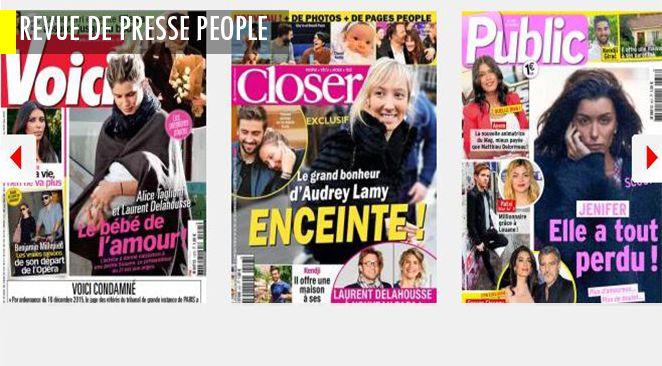 Le bébé de l'amour chez Laurent Delahousse et Alice Taglioni ; celui de la loose chez Kim Kardashian ; Paris Jackson boit, Jenifer trinque (et George Clooney ne divorce pas encore)