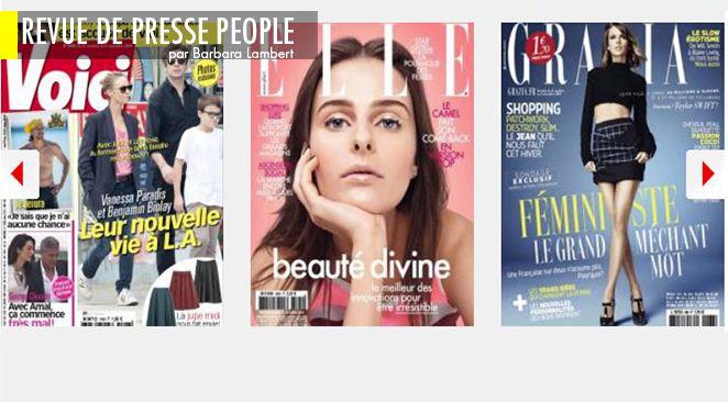 George et Amal Clooney: le mariage alibi? ; Alexandra Lamy: pourquoi elle refuse de divorcer ; Aurélie Filippetti: amoureuse ou ambitieuse?