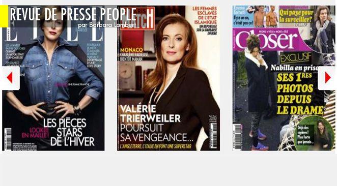 Valérie Trierweiler amoureuse ? : la révélation de Nicolas Sarkozy ; François Hollande : en visite chez Val ; Marie Drucker enceinte : et de qui ?
