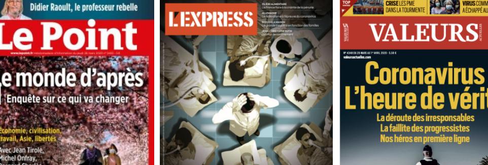 L'Express voit des pénuries d'approvisionnement, Michel-Édouard Leclerc pas du tout, les oppositions préparent le procès du gouvernement en silence, Agnès Buzyn dénonce tout le monde sauf elle, Pékin se voit en relais des États-Unis comme super puissance
