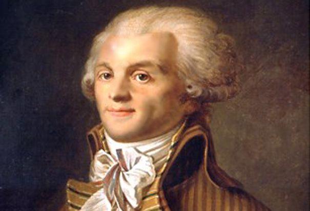 Un portrait de Robespierre.