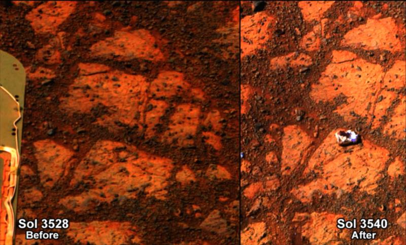 Un mystérieux caillou est apparu sur Mars