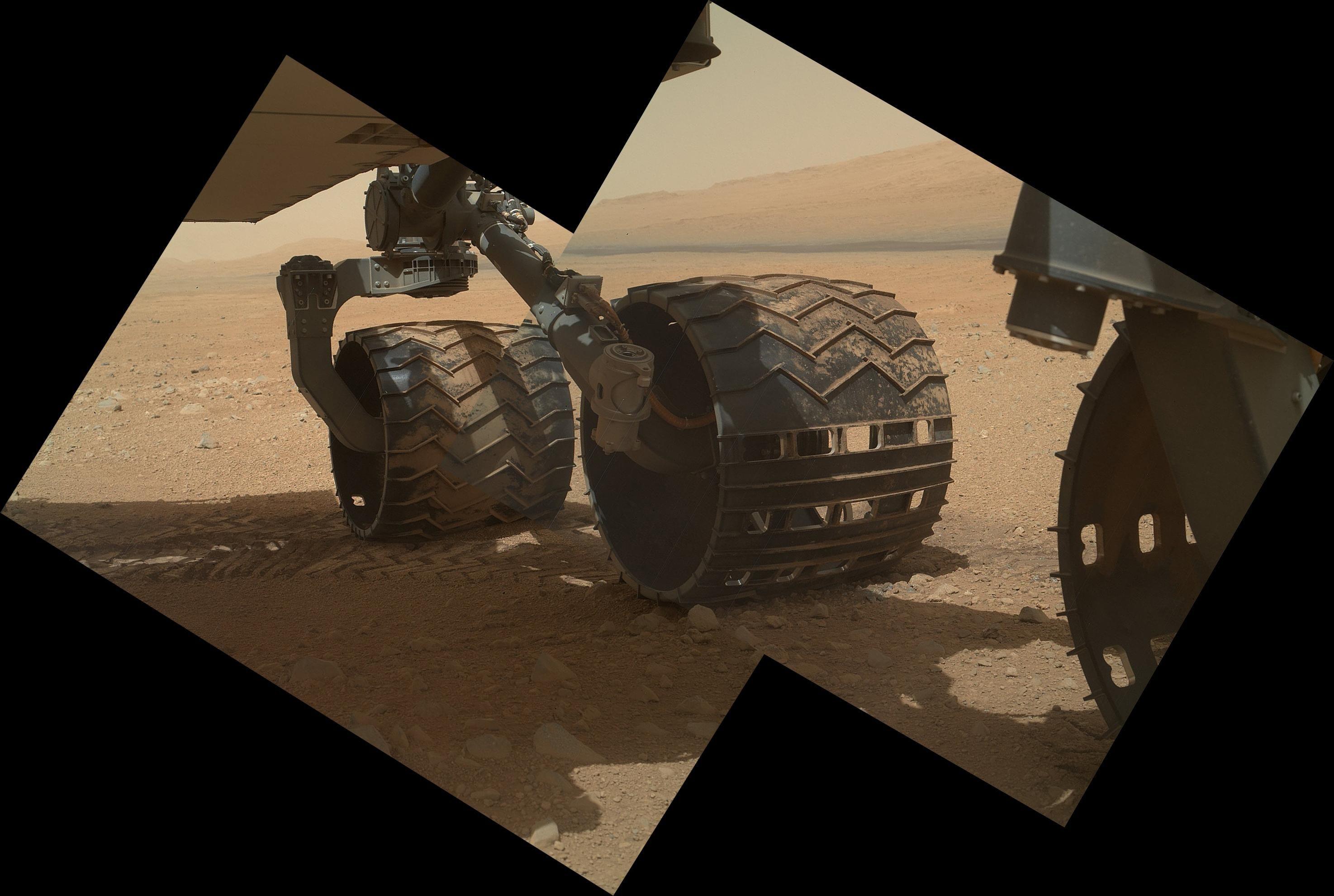 Les roues de Curiosity sont endommagées