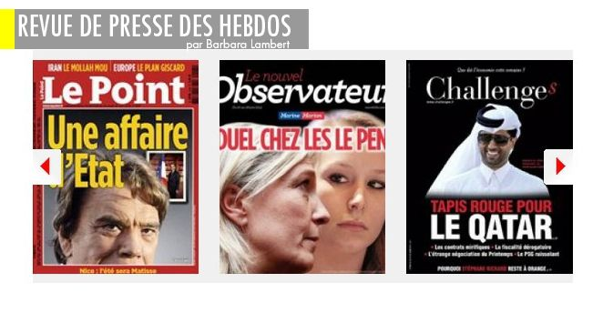 """Affaire Tapie : la bombe Jean Bruneau, Guéant, marchand de tableaux : la piste Djouhri, Marine et Marion Le Pen : entre elles, c'est """"Dallas"""""""