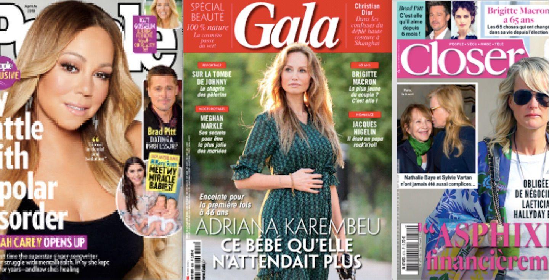 Brad Pitt a retrouvé l'amour, Cyril Lignac et Heidi Klum aussi (mais pas ensemble); 100% peps : Brigitte Macron fête son anniversaire; Laeticia Hallyday s'inquiète pour le paiement de sa taxe foncière; Mariah Carey est bipolaire et veut que ça se sache